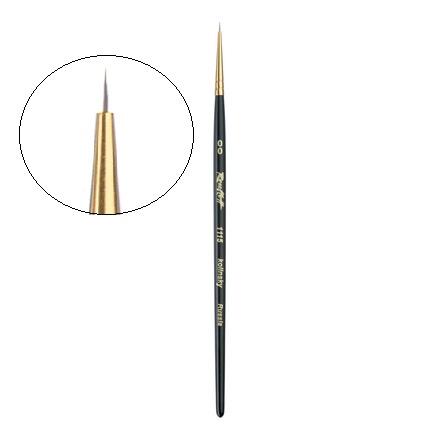 Купить Roubloff, Кисть для дизайна «Колонок» №00, с короткой черной ручкой