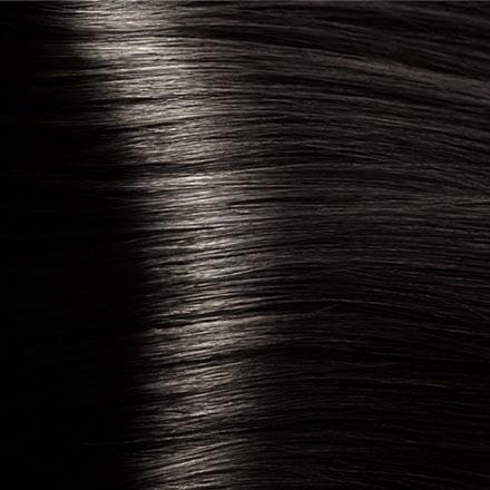 Kapous, Крем-краска для волос Hyaluronic 4.00, коричневый интенсивный, 100 мл краска для волос kapous professional hyaluronic acid hair color серебро