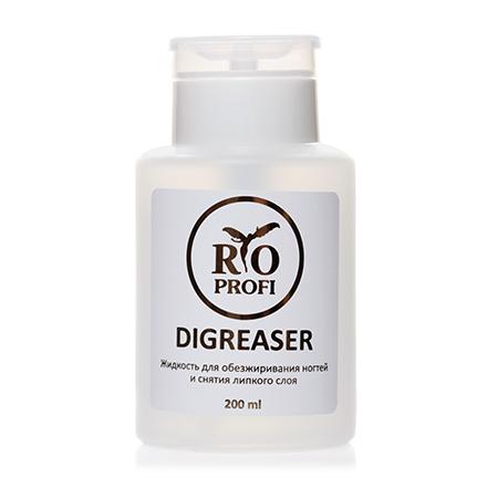 Rio Profi, Жидкость для обезжиривания ногтей и снятия липкого слоя, 200 мл