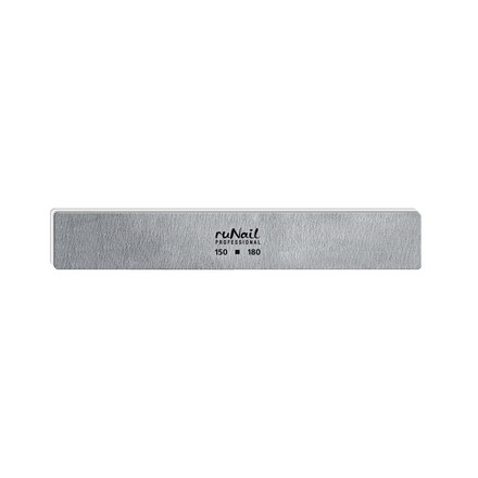 Купить RuNail, Пилка для искусственных ногтей серая, прямая, 150/180