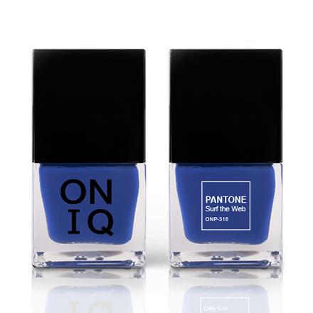 Купить ONIQ, Лак для ногтей Pantone, Surf the Web, Синий