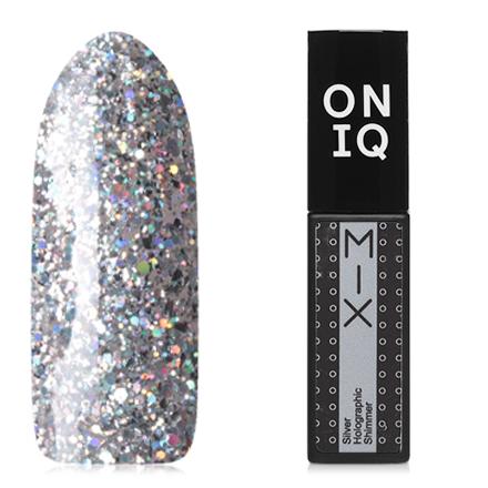 ONIQ, Гель-лак Mix №100s, Silver Holographic Shimmer