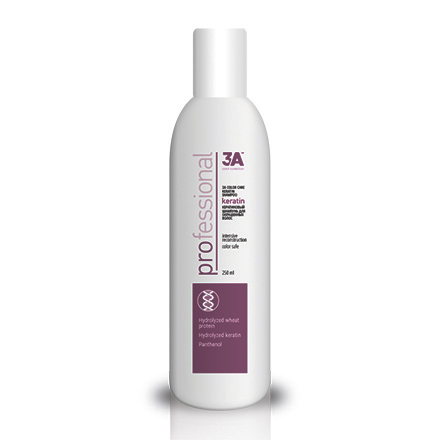 3A, Шампунь Color Care Keratin, восстанавливающий, 250 мл
