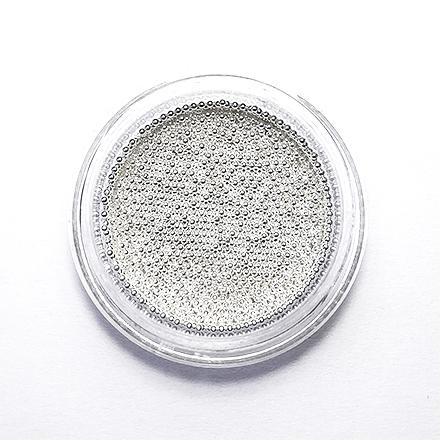 Купить De.Lux, Бульонки металлические 0, 8 мм, серебро