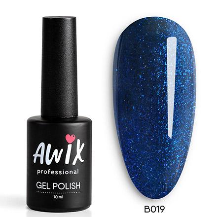 Купить AWIX Professional, Гель-лак Brilliant №019, Синий