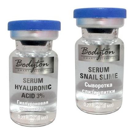 Bodyton, Гиалуроновая кислота 3% (8 мл) + Экстракт слизи улитки (8 мл)