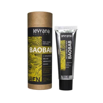 Levrana, Мужской крем для лица «Баобаб», 30 мл фото