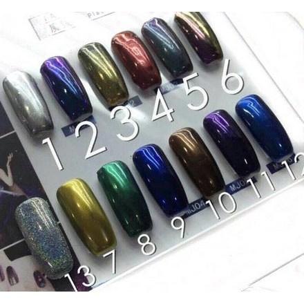 Bluesky, Втирка «Зеркальный блеск» №08, зеленаяВтирка для ногтей<br>Зеркальная пудра для придания металлического блеска ногтям (4 г).