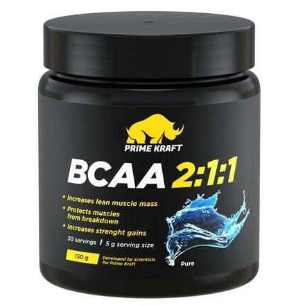 Prime Kraft, Аминокислоты BCAA 2:1:1, без вкуса, 150 г prime kraft аминокислоты bcaa 2 1 1 персик и маракуйя 150 г