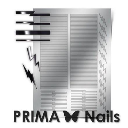 Prima Nails, Металлизированные наклейки GM-05, серебро