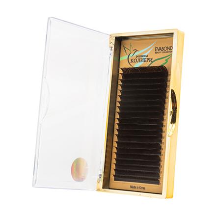 Купить EVABOND, Ресницы на ленте «Колибри», D=0, 07, D-изгиб, темный шоколад