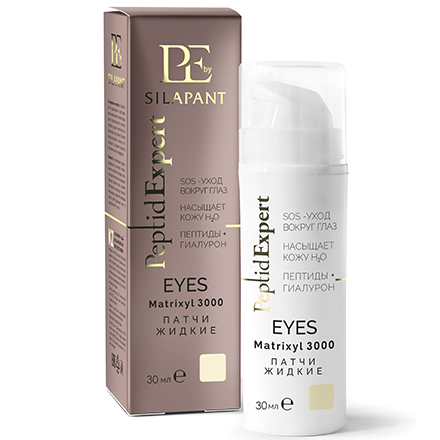 Silapant, Жидкие патчи для кожи вокруг глаз Peptid Expert, 30 мл