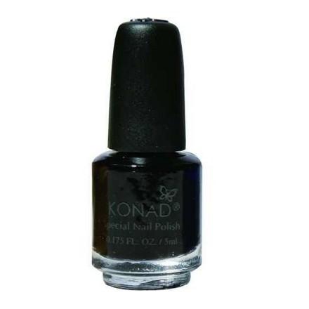 Konad, лак для стемпинга, цвет S25 Black 5 ml (черный) повседневный лак konad regular nail polish konad psyche green