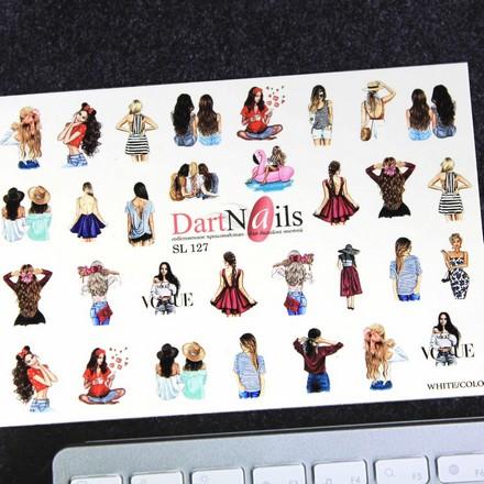 Купить DartNails, Слайдер-дизайн Art-Fashion «Девушки» №127