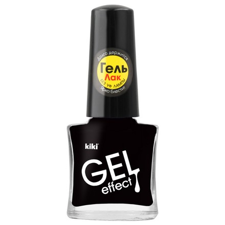 Купить Kiki, Лак для ногтей Gel Effect №016, Черный