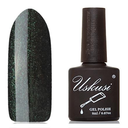 Uskusi, Гель-лак №196Uskusi<br>Гель-лак (8 мл) черный, с зелеными и золотистыми микроблестками, плотный.<br><br>Цвет: Зеленый<br>Объем мл: 8.00