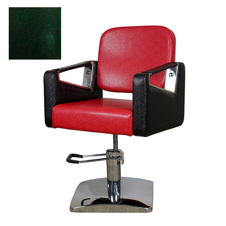 Купить Мэдисон, Кресло парикмахерское «МД-201» гидравлическое, хромированное, изумрудно-черное