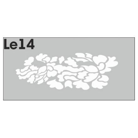 Airnails, Трафареты LE14Трафареты для маникюра<br>Набор многоразовых клеевых трафаретов для аэрографии на ногтях из высокоэластичной пленки. В упаковке 3 шт.<br>