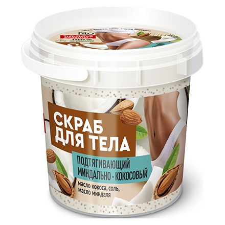 Купить Fito, Скраб для тела Organic «Миндально-кокосовый», 155 мл