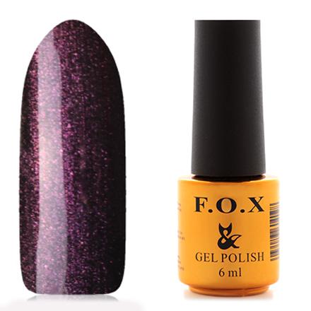 FOX, Гель-лак Pigment №095F.O.X<br>Гель-лак (6 мл) черный, с фиолетовыми микроблестками, плотный.