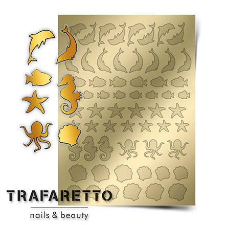 Купить Trafaretto, Металлизированные наклейки Sea-04, золото