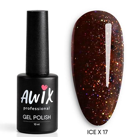 Купить AWIX Professional, Гель-лак Ice X №017, Коричневый