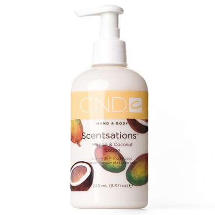 CND, Лосьон Creative Scentsations Mango & Coconut, 245 мл cnd лосьон для рук и тела береза и мята cnd scentsations lotion birch and mint 14115 245 мл
