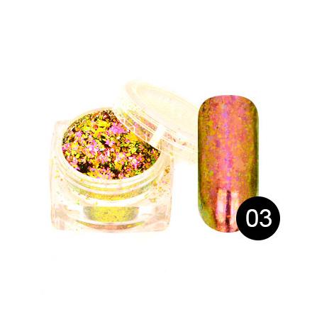 TNL, Хлопья Юки №03, розовый кварц (TNL Professional)