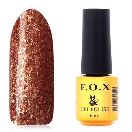 F.O.X, Гель-лак Brilliance №007F.O.X<br>Гель-лак (6 мл) золотисто-оранжевый, с золотистой фольгой, плотный.<br><br>Цвет: Золотой<br>Объем мл: 6.00