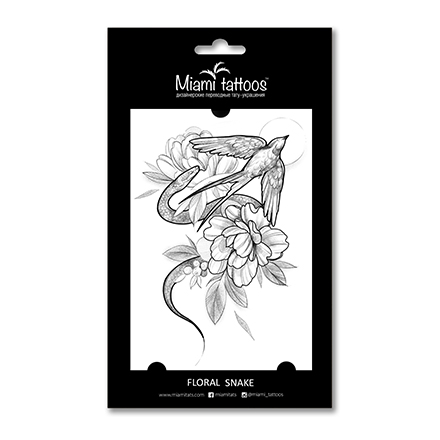 Miami Tattoos, Переводные тату Floral Snake фото