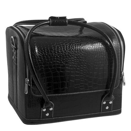 Planet Nails, Сумка-чемодан Crocodile, черная от KRASOTKAPRO.RU