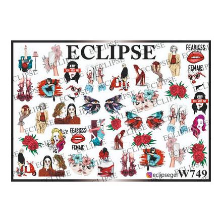 Купить Eclipse, Слайдер-дизайн для ногтей W №749