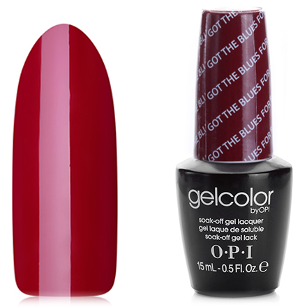 OPI GelColor, Гель-лак Got The Blues For Red W52 opi гель лак opi gelcolor mariah carey warm me up hle47 15 мл
