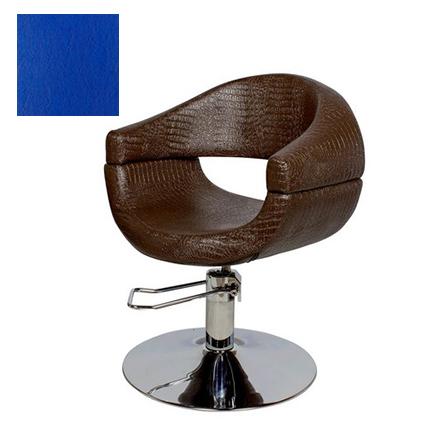 Купить Мэдисон, Кресло парикмахерское «МД-108» гидравлическое, хромированное, синее