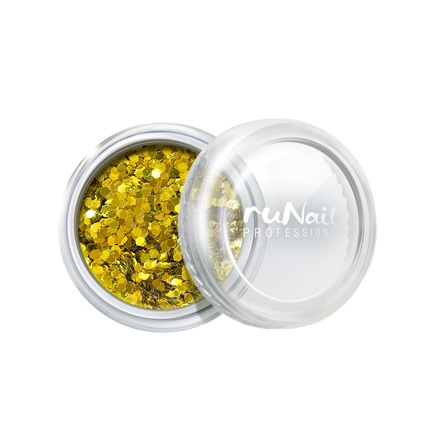 ruNail, дизайн для ногтей: конфетти (золотой) runail дизайн для ногтей сухоцветы 0468 желтый