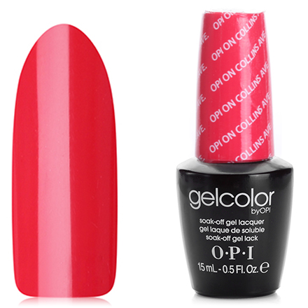 OPI GelColor, Гель-лак OPI On Collins Ave B76 opi gelcolor гель лак i sea you wear opi gca73
