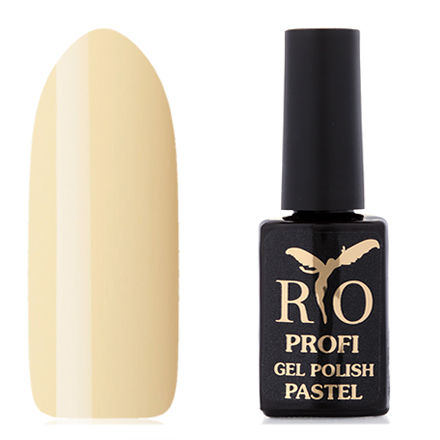Rio Profi, Гель-лак «Pastel» №2, НикаRio Profi<br>Каучуковый гель-лак (7 мл) нежно-желтый, без перламутра и блесток, плотный.<br><br>Цвет: Зеленый<br>Объем мл: 7.00