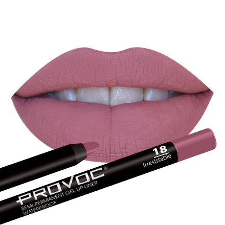 Provoc, Gel Lip Liner 18 Irresistible, Цвет натурально-розовый