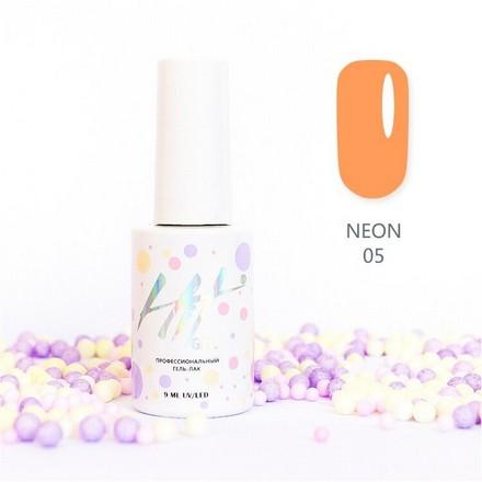 Купить HIT Gel, Гель-лак Neon №05, Оранжевый