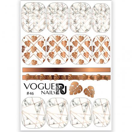 Купить Vogue Nails, Слайдер-дизайн №46