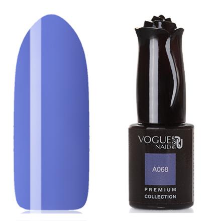Vogue Nails, Гель-лак Premium Collection А068Vogue Nails<br>Гель-лак (10 мл) васильковый, без перламутра и блесток, плотный.