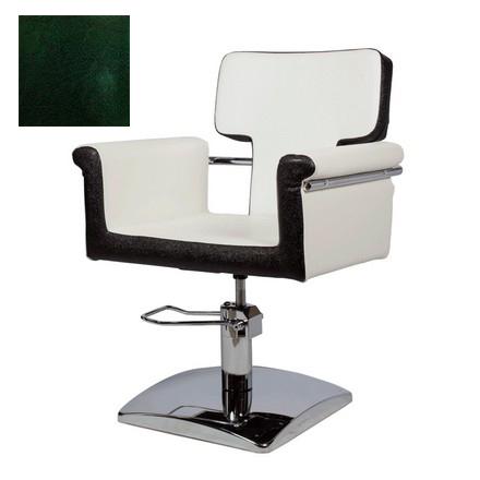 Купить Мэдисон, Кресло парикмахерское «МД-77» гидравлическое, хромированное, изумрудно-черное
