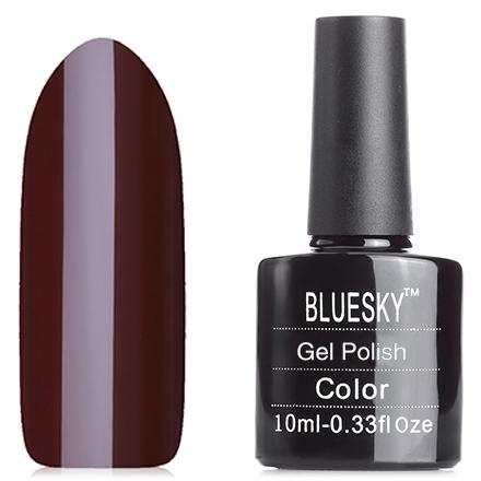Bluesky, Гель-лак №40538/80538 Faux FurBluesky Шеллак<br>Гель-лак (10 мл) темно-коричневый, шоколадный, эмалевый, плотный.