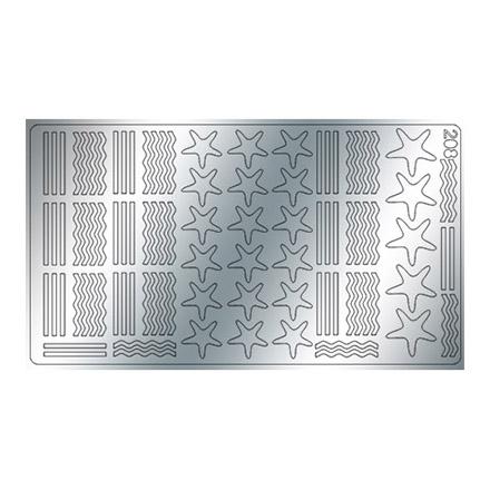 Купить Freedecor, Металлизированные наклейки №208, серебро