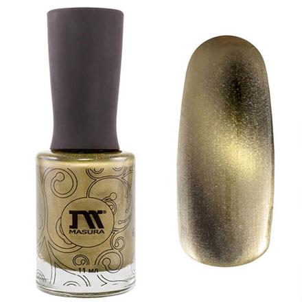 Купить Masura, Лак для ногтей №904-111, Золотой авантюрин, Зеленый