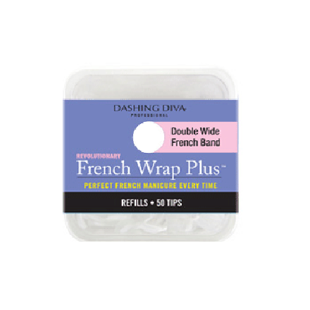 Dashing Diva, French Wrap Plus - White, Refill Size #13 (широкие)