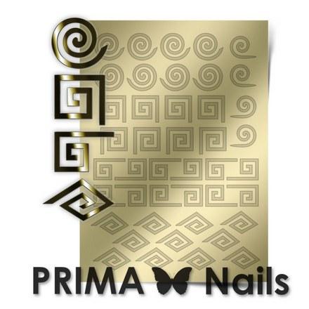 Prima Nails, Металлизированные наклейки GM-01, золотоНаклейки для дизайна<br>Наклейки для необычного дизайнерского маникюра.<br>