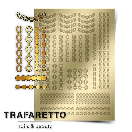 Купить Trafaretto, Металлизированные наклейки UZ-01, золото