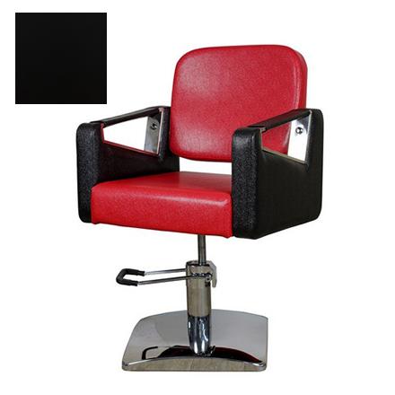 Купить Мэдисон, Кресло парикмахерское «МД-201» гидравлическое, хромированное, черное