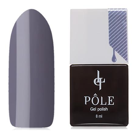 POLE, Гель-лак №105, Элегантный серыйPOLE<br>Гель-лак (8 мл) холодный серый, без перламутра и блесток, плотный.